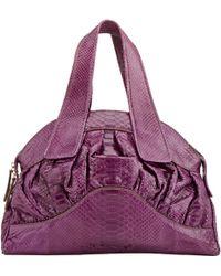 Zagliani - Python Wave Medium Shoulder Bag-purple - Lyst