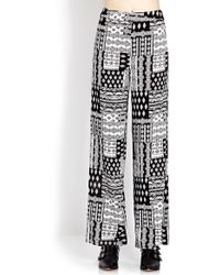 Forever 21 Eclectic Wide-Leg Pants - Lyst