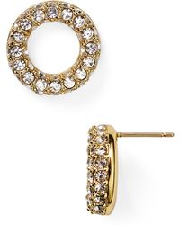 Kate Spade Platform Chain Stud Earrings - Lyst