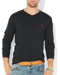 Ralph Lauren Polo Jersey Vneck Slim Fit - Lyst