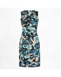 Erdem Jazz Dress Mo'Orea Pink blue - Lyst