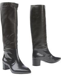 Jil Sander Navy Boots - Lyst