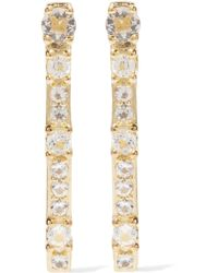 Elizabeth and James - Twiggy Gold-tone Crystal Earrings - Lyst