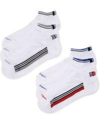 Calvin Klein Mens Racer Striped Sport Ped Socks 6 Pack - Lyst