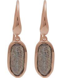 Monica Vinader Rose Gold-plated Labradorite Vega Drop Earrings - Pink
