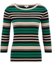 Cc | Emerald Stripe Jersey Top | Lyst