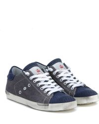 Leather Crown Niedrige-Sneakers-Von-Leather-Crown-In-Canvas-Jeans blue - Lyst