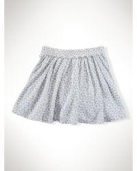 Ralph Lauren Floral Ruched Skirt - Lyst
