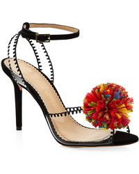Charlotte Olympia Pom Suede Sandals - Lyst