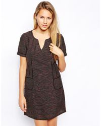 See U Soon Tweed Mix Dress With Pockets - Lyst