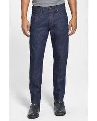 Diesel 'Buster' Slim Straight Leg Selvedge Jeans - Lyst