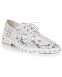 Givenchy Nika Studded Lace Derby Oxford Shoes - White