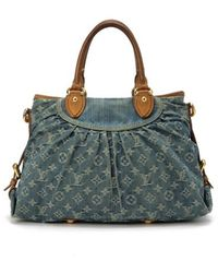Louis Vuitton Pre-owned Blue Monogram Denim Neo Cabby Bag - Lyst
