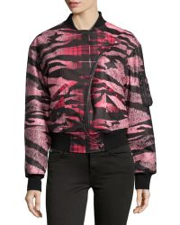 McQ by Alexander McQueen Historical Mixedprint Bomber Jacket - Lyst