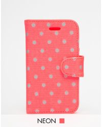 Cath Kidston - Little Spot Iphone 5 Case With Card Holder - Lyst