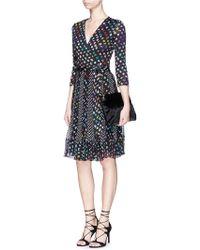 Diane von Furstenberg | 'caprice' Daisy Bud Polka Dot Print Wrap Dress | Lyst