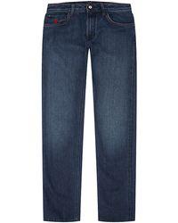 Stefano Ricci Logo Stitch Jeans - Blue
