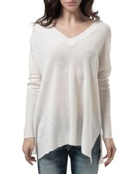Subtle Luxury Double V Neck Sweater - Lyst