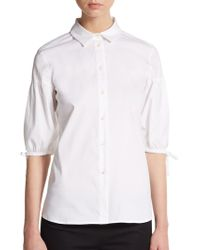 RED Valentino Split Sleeve Poets Shirt - Lyst