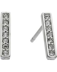 Michael Kors Collection Pave Bar Stud Earring - Lyst