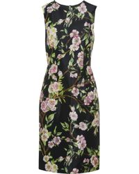 Dolce & Gabbana Wild Roseprint Silk Dress - Lyst