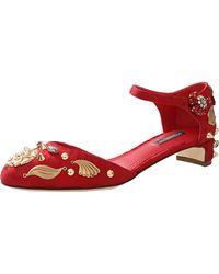 Dolce & Gabbana Embellished Pump - Lyst