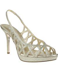Nina Fantina Glitter Peep-Toe Slingback Sandals - Lyst