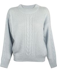 Lover Cable Jumper blue - Lyst