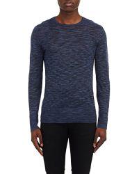 John Varvatos Mélange Sweater blue - Lyst