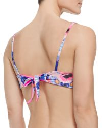 Zinke - Emmi Solid/Floral-Print Reversible Swim Top - Lyst