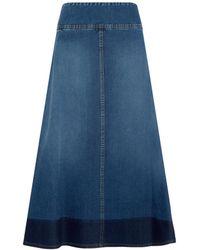 Sonia Rykiel A-Line Cotton-Denim Skirt blue - Lyst