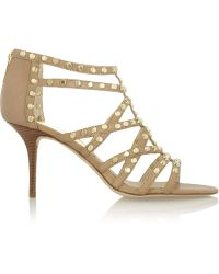 MICHAEL Michael Kors Maddie Studded Leather Sandals - Lyst