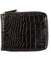 Stussy - All Around Zipper Crocodile Embossed Wallet - Lyst