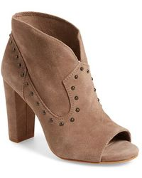Vince Camuto 'corianne' Studded Open Toe Bootie - Brown