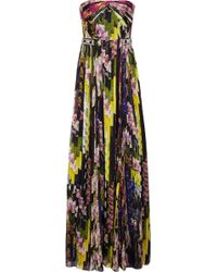 Matthew Williamson Floral-print Silk-chiffon Gown - Lyst