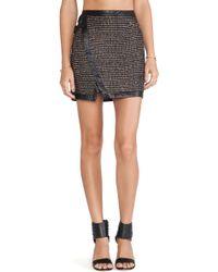 Greylin - Czar Tweed Wrap Skirt - Lyst