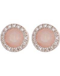 Monica Vinader - Rose Diva Circle Stud Earrings - Lyst