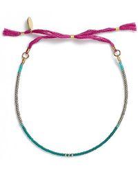 Shashi 'mary' Slide Bracelet - Emerald - Blue