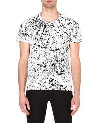 Sandro Squire Splater Tshirt Blanc - Lyst