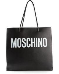 Moschino Logo Print Tote - Lyst