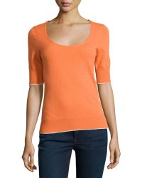 Todd And Duncan - Cashmere Fine-gauge Scoop-neck Sweater - Lyst