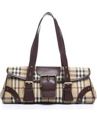 Burberry Pre-owned Haymarket Check Doctor Bag - Lyst