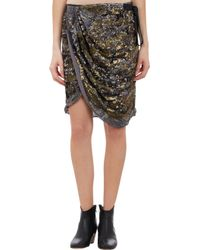 Isabel Marant Elmira Sequin Wrap Skirt - Lyst