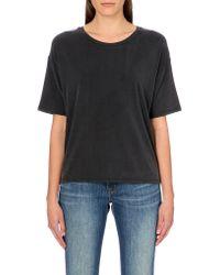 American Vintage Round Neck Jersey T-shirt - Lyst