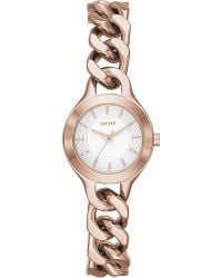 DKNY Chambers Rose Goldtoned Pvd Watch Silver - Lyst