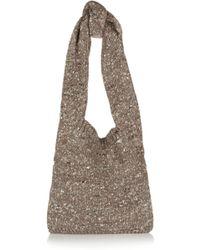 Stella McCartney Chunky-knit Woolblend Shoulder Bag - Lyst