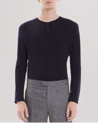 Sandro Sleep Wool Henley Sweater - Lyst