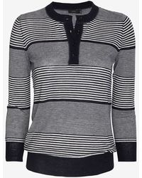 Joseph Cashmere Stripe Sweater - Lyst