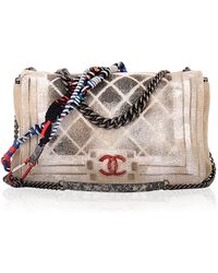 """Madison Avenue Couture Chanel Limited Edition """"Oh My Boy"""" Graffiti Bag - Natural"""