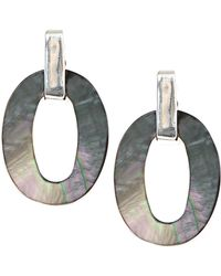 Anne Klein - Mother Of Pearl Clip Earrings - Lyst